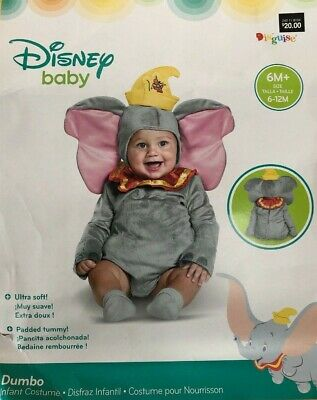 Disney Resort DUMBO Costume 6 - 12 Months Elephant Baby Toddler Child Halloween