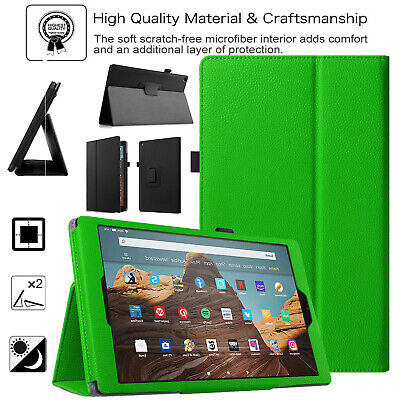 Case For Amazon Fire 7 2019 9th Gen Leather Smart Stand Book Flip Alexa Cover