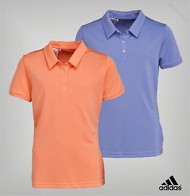 Girls Adidas Lightweight Short Sleeve Golf Polo Top Sizes Age from 7 to 14 Yrs