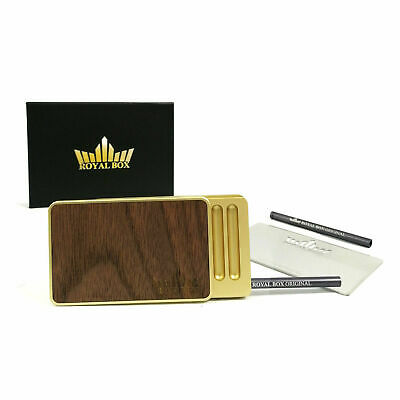Wood Gold Snuff Dispenser Kit Tobacco Box Snorter Set Collectable Straw Snuffer