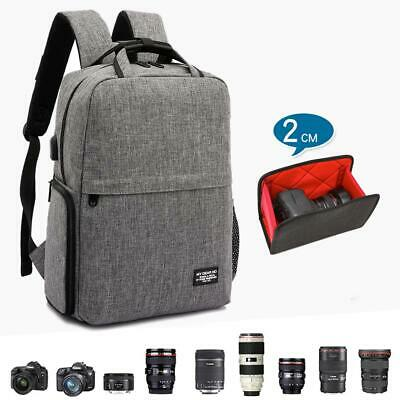 "Inateck 15.6/"" Dual Layer Camera Backpack with Laptop Compartment Rain Cover"