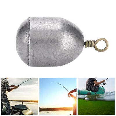 5pc Bass Casting Sinkers Lead Sinker with Ring Carp Drop Water Fish A2E3