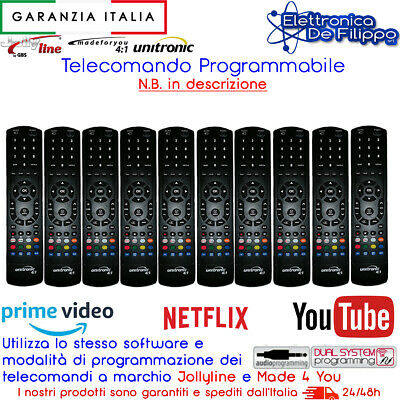 KIT 10 Telecomandi Programmabili Universali Unitronic come Made 4 You Jolly Line