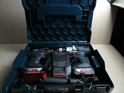 Bosch Professional Brushless 18V Combi Drill + Impact Driver Twin Pack Set