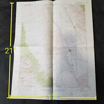 Vintage 1958 USGS Lone Pine California Topographic Map
