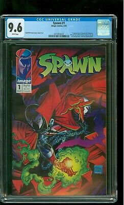 Spawn 1 CGC 9.6 NM+ 1st appearance of Spawn Todd McFarlane cover Image 1992