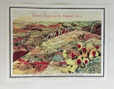 LANDLAND Edward Sharpe & Magnetic Zeros 2012 gig poster Austin City Limits