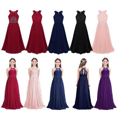 Kids Flower Girl Dress Party Formal Wedding Bridesmaid Teen Pageant Long Dresses
