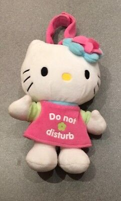 Hello Kitty 'do not disturb' hanging soft toy