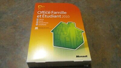 Microsoft Office Home and Student 2010 Family Pack 3PC French Version