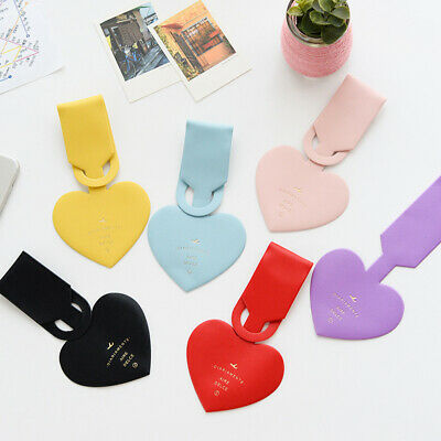 Heart Shapes Leather Portable Label Suitcase Luggage Tag Baggage Boarding