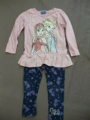 top and leggings, Disney Frozen, 4-5yrs, used