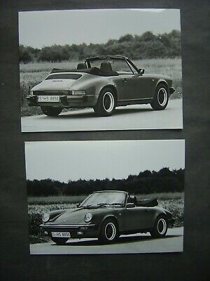 Lot de 2 Photos 18 x 24 - PORSCHE 911 CARRERA CABRIO