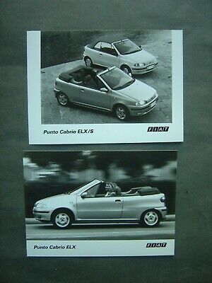 Lot de 2 Photos 13 x 18 - FIAT PUNTO CABRIO