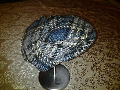 Bugatti Scottish Tweed Blue Wool Flat Cap