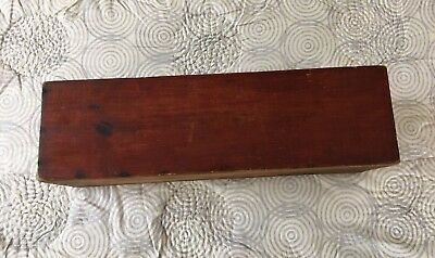 AAFA Antique Vermont  Red Stain Light Pine Box 18TH 19TH C