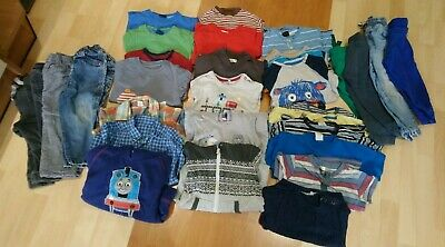 Large 30 Item Bundle Boys 18-24 Months Trousers/Tops/Jumpers/Shirts