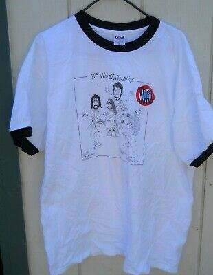 "Classic ""The Who By Numbers"" Tee Shirt Sz Men's X-Large Color White/Black Ringer"