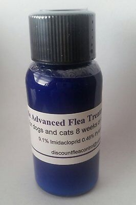 Blue Bottle ADVANCED FLEA CONTROL Treatment, All Sizes- Dogs, Cats 10ml