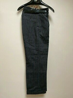 Vintage 1930's 1940's wool striped morning suit trousers size 30
