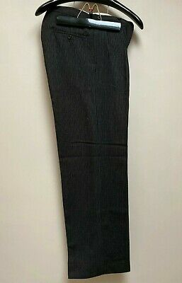 Vintage 1930's 1940's wool striped morning suit trousers size 32