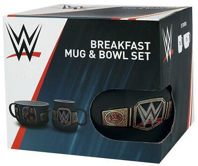 WWE Superstars Ceramic Breakfast Mug & Bowl Set in Gift Box