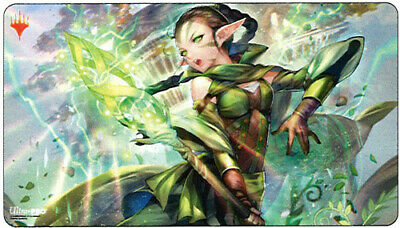 Magic The Gathering War of The Spark Alternate Art Playmat ft. Nissa MTG