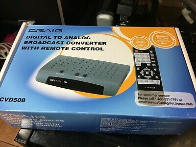 Craig Digital to Analog Broadcast Converter w/remote - great cond!