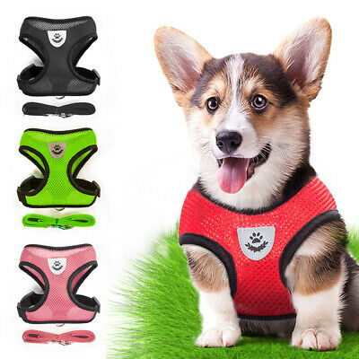 Breathable Dog Car Harness Safety Air Mesh Puppy Seat Belt Clip Lead Dogs Pet