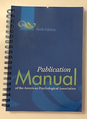 Spiral Publication Manual of the American Psychological Association APA 6th Ed