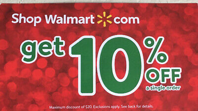 WALMART 10% off 5 MINUTE E DELIVERY $20 SAVINGS EXP JAN 15TH