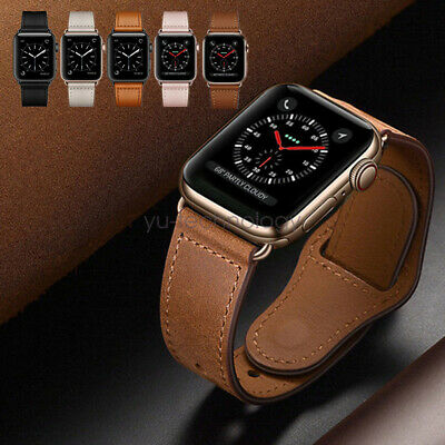 Apple Watch Band, Genuine Leather Strap for iWatch Series 5 4 3 38/42mm 40/44mm
