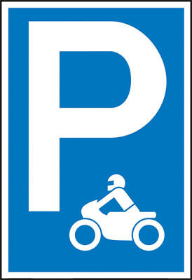 Parking Spot Sign » Symbol: P - Motorcycle (Symbol )« S10130