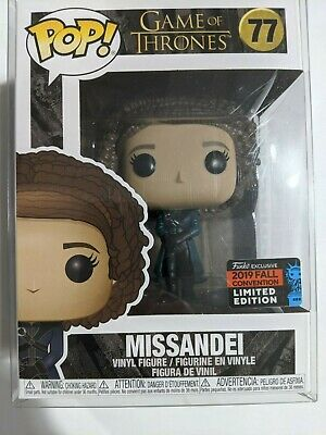 Funko Pop Game of Thrones Missandei #77  Fall Convention Exclusive w/ Protector