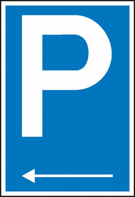 Parking Spot Sign » Symbol: P with Richtungspfeil Left « S10131