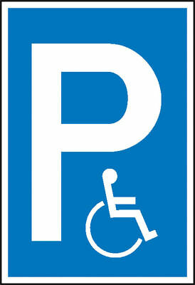 Parking Spot Sign » Symbol: P, Symbol: Wheelchair« S10133