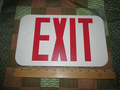 REPLACEMENT, Emergency Exit Light Cover only, RED EXIT, White Sign, New w/o Box