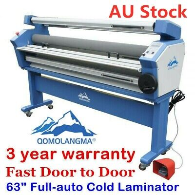 AUS 63in Full-auto Wide Format Cold Laminator Laminating Machine Heat Assisted