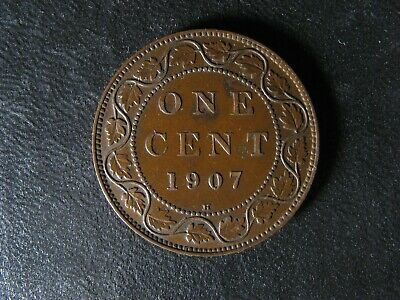 1 cent 1907H Canada one penny copper coin large King Edward VII c ¢ EF-40