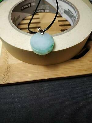 Grade A 100% Natural Burma Jadeite Jade Pendant Necklace Safe buckle card A#8866