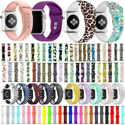 Silicone Bracelet Sport Band Strap Belt For Apple Watch Series 5/4/3/2/1 38-44mm