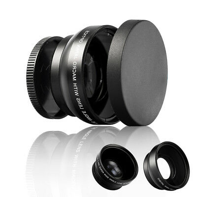 52mm Digital HD 0.45X Super Wide Angle Macro Lens for Canon Nikon Sony Pentax.UK