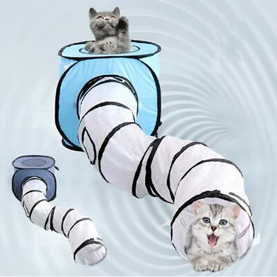 Foldable S-Shape Pet Cat Tunnel Camp Training Play Fun Kitten Playing Toy Large