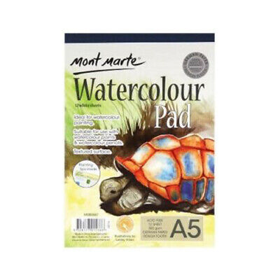 A5 Mont Marte Watercolour Pad 300gsm German Paper 12 Sheets Watercolour Book