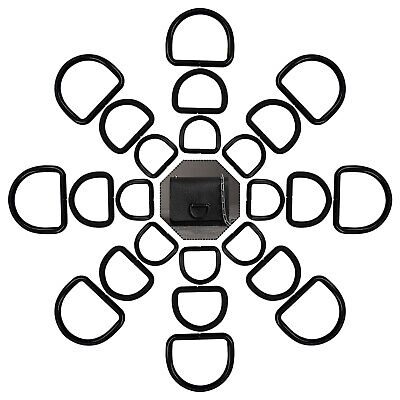 Metal Black D Rings Buckles for Fastening Webbing Pet Collars Art Craft Handbags