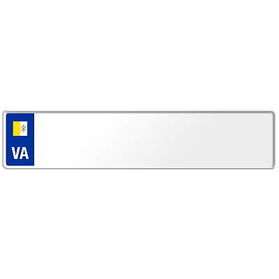 Vatican Flag Euro European License Plate Number Plate Custom Embossed Alu