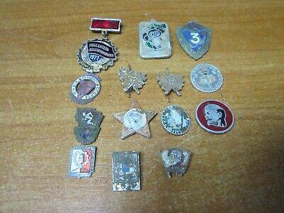 Collectible USSR Medals Badges Soviet Russian Star Propaganda Lenin coat of arms