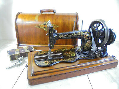 Antique Singer 12k 'New Family' Ottoman Carnation Fiddlebase Sewing Machine