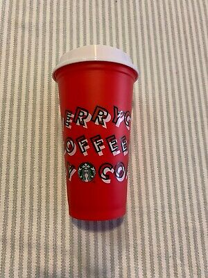 New Starbucks Holiday Christmas 2019 Red Reusable Cup Tumbler w/ Lid