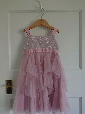 Pink Girls Monsoon Party Dress age 2-3 floaty skirt strappy top.